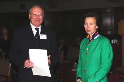 Harold Boyle is presented his award by HRH The Princess Royal