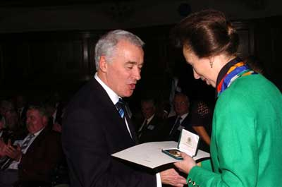 Joe Slater receives his award from HRH The Princess Royal